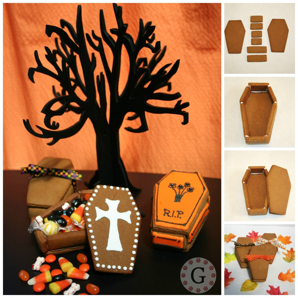Gingerbread Halloween Treat Boxes